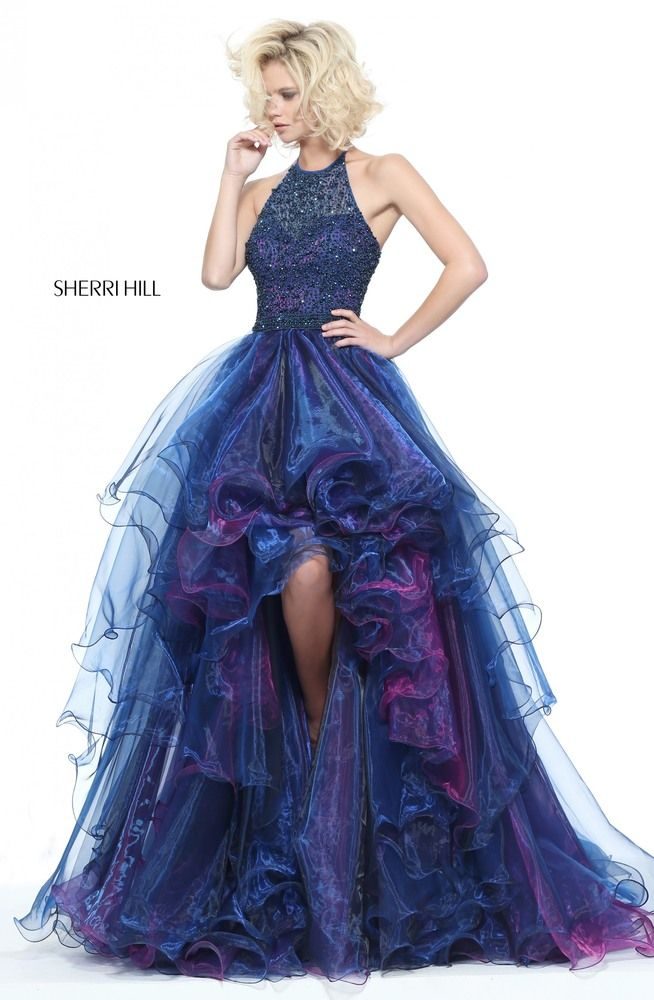 Sherri Hill 51140 a stunning high low iridescent organiza #ipaprom