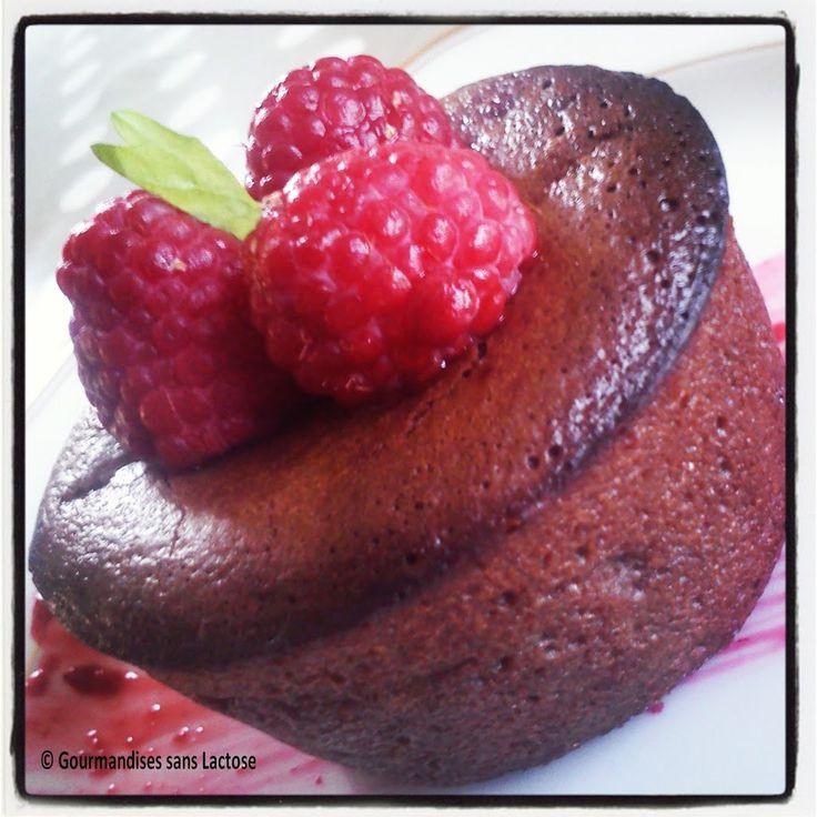 Fondant chocolat coeur framboise coulant