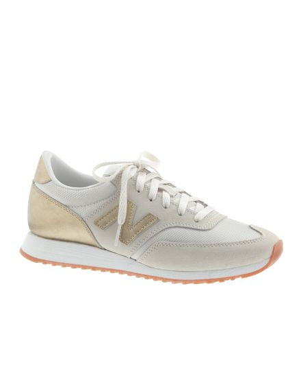 Gold and Grey New Balance 620 Sneakers