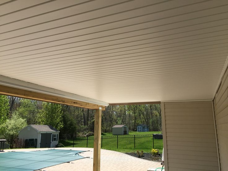Vinyl Soffit For Gutter System Under Deck Beach House