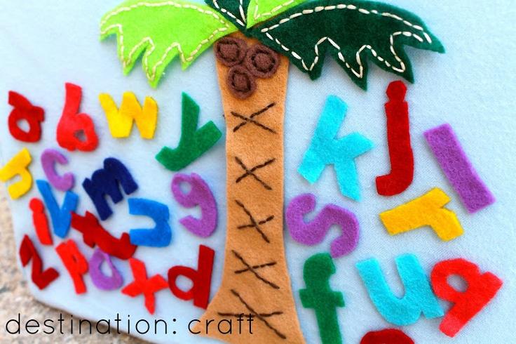Destination: Craft: Felt Board Idea: Chicka Chicka Boom Boom