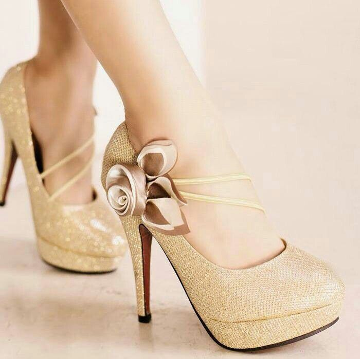 17 Best images about Possible wedding shoes on Pinterest | Gold ...