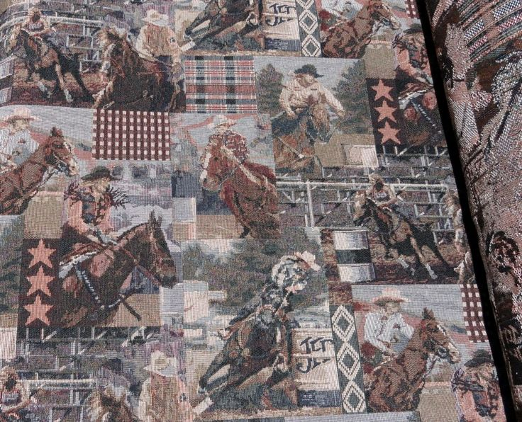 Western Cowgirl Barrel Racer Rustic Upholstery Fabric buy it here at http://www.themountainline.com/western-cowgirl-barrel-racer-rustic-upholstery-fabric