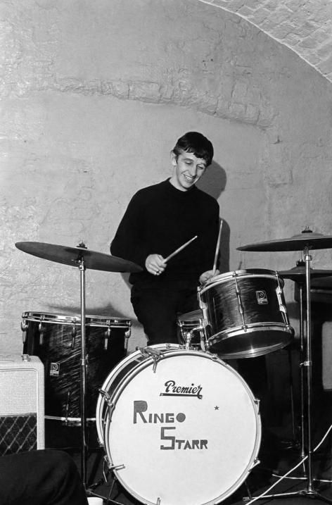 Ringo plays drums during a jam session in The Cavern - The Beatles 1962? Ringo joined band August 1962.