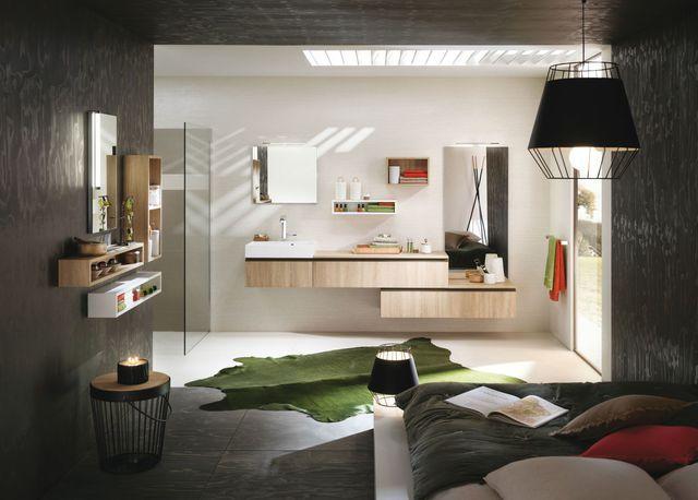 33 best meubles salle de bains images on pinterest - Plan chambre parentale avec salle de bain ...
