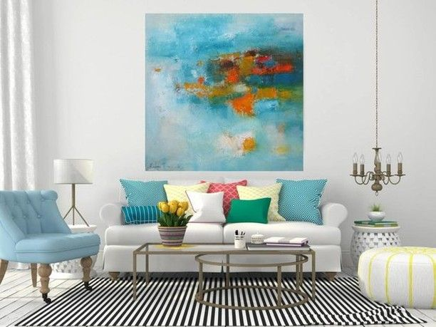 @katyatrischuk Posted To Instagram: Home Decor Wall Abstract Art Print  #turquoiseart #original