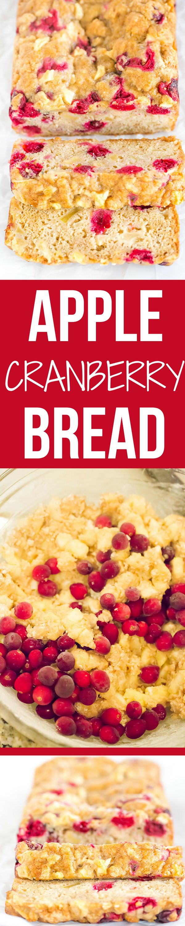 This apple cranberry bread is incredibly easy, packed with apples, has a little…