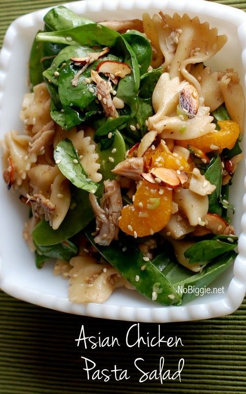 Asian Chicken Pasta Salad recipe | NoBiggie.net | This might be (in my opinion) the best salad recipe I know.