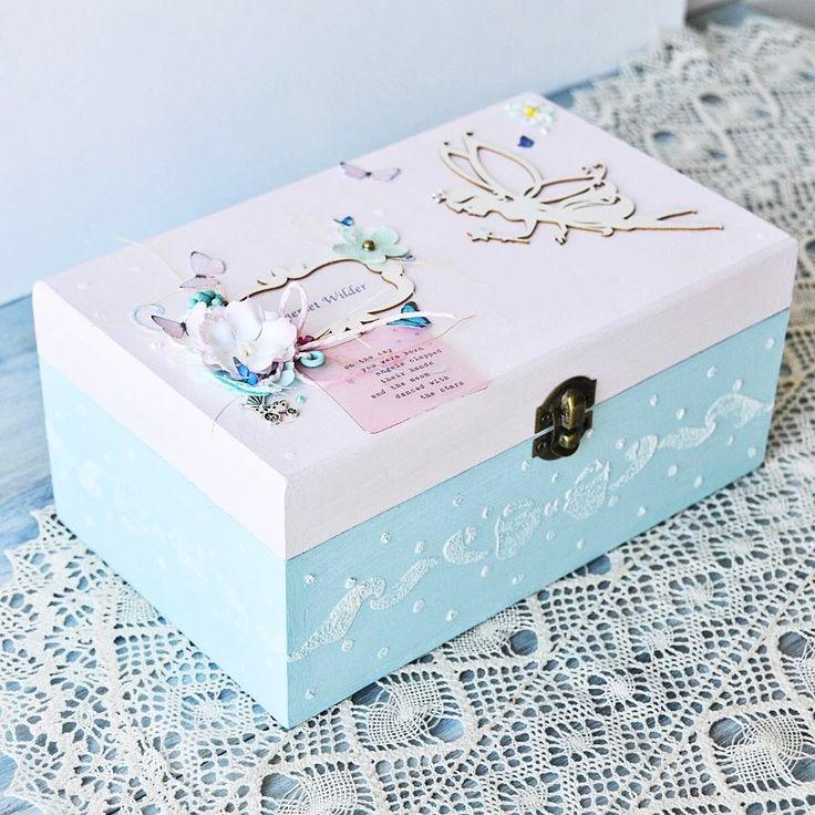 Christening Keepsake Box, Baby Keepsake Box, Baptism Keepsake Box. Perfect Gift for Baby Shower.