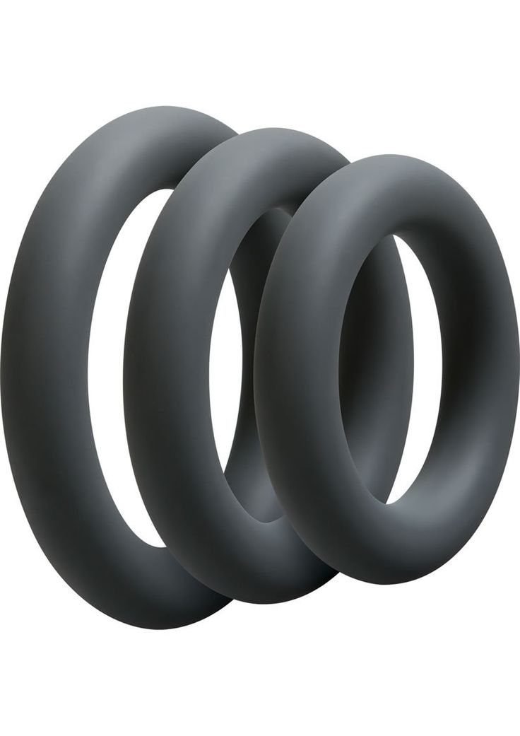 Buy Optimale 3 Silicone C-ring Set Thick Slate online cheap. SALE! $18.99