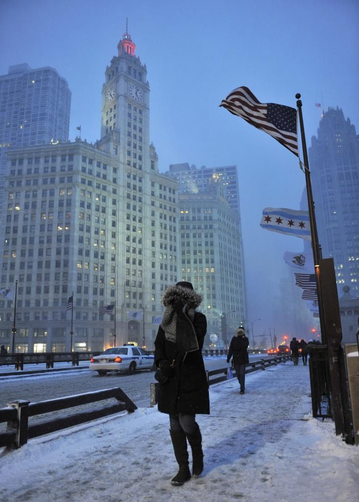 Snow storm in Chicago / Photo: upicom