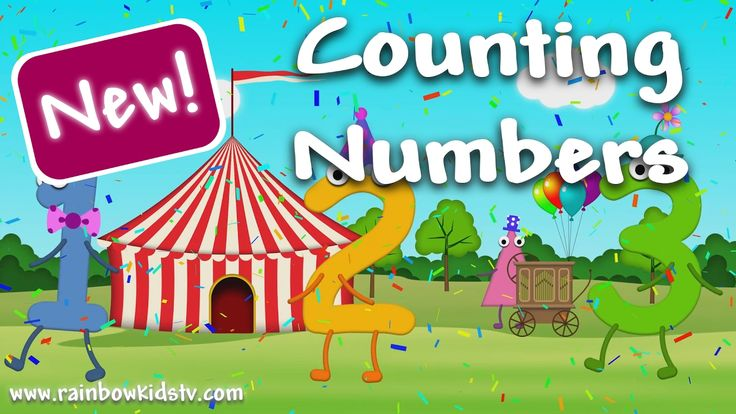 ♪ Counting Numbers with the funny Number Clowns! Learn to count from 0 t...