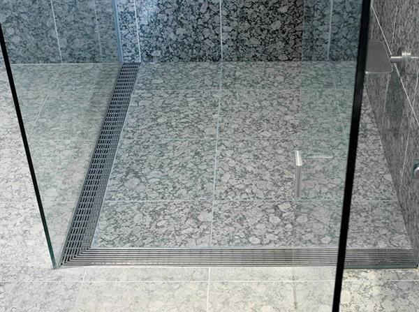 Order yours now from Elite Hardware. Sleek linear drainage system for a hobless shower