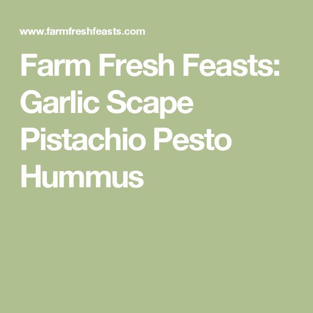 Farm Fresh Feasts: Garlic Scape Pistachio Pesto Hummus
