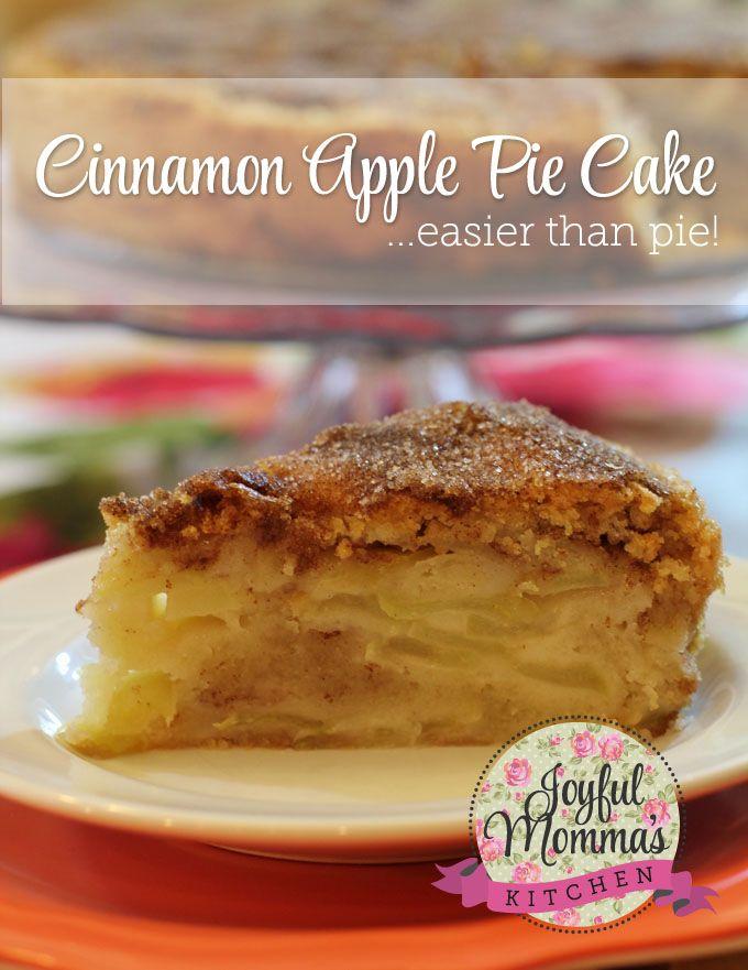 Cinnamon Apple Pie Cake on MyRecipeMagic.com