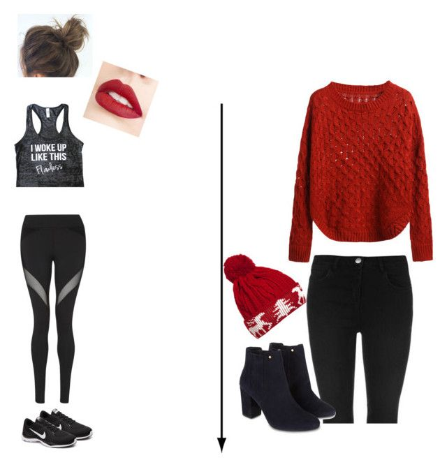 """""""Whatever look"""" by aliza-ahmed on Polyvore featuring Michi, Jouer, NIKE, Monsoon and WithChic"""