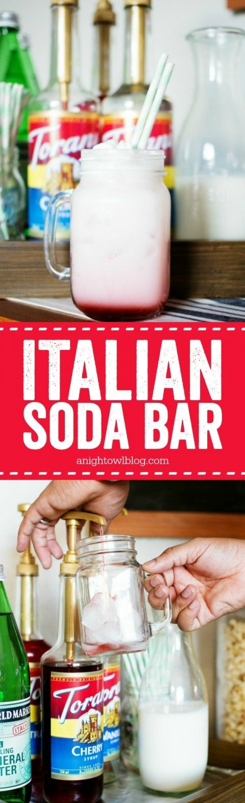 For your next party, put together a @ToraniFlavor Italian Soda Bar! Delicious and fun for guests!