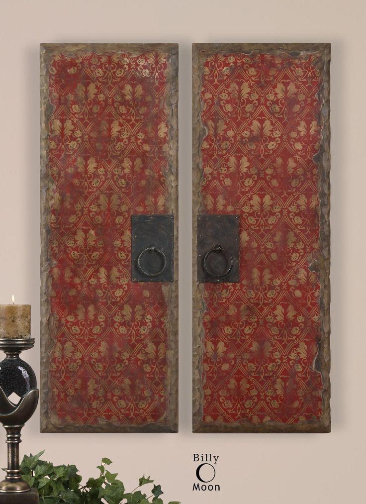 Uttermost Art Red Door Panels Set of 2 Del Sol Furniture