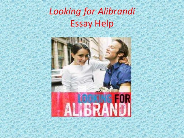analysis of looking for alibrandi Lee is a very thoughtful and self-conscious adolescent who is always looking out for alibrandi which creates an eccentric setting for looking for alibrandi.
