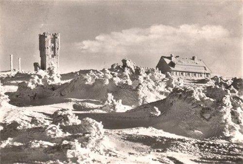 Stará rozhledna Habsburská věž na Pradědu
