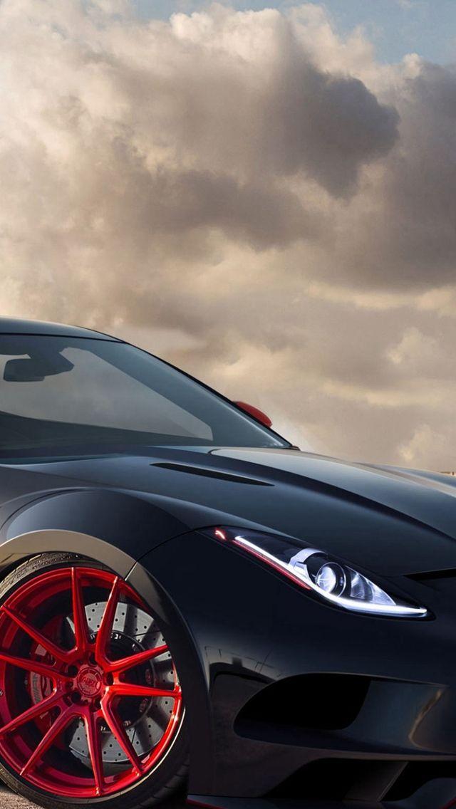 Jaguar C-X16 Black Red Rims  #iPhone #5s #wallpaper