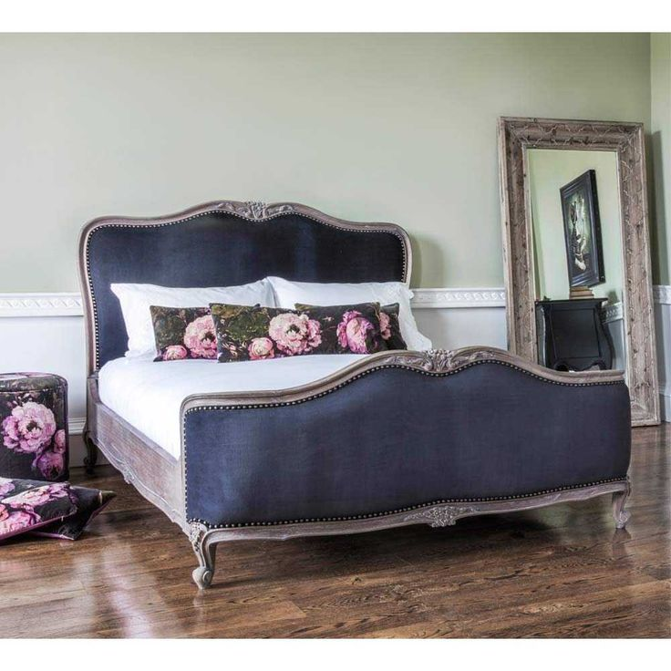 French Bedroom Black And White Teenage Bedroom Wallpaper Uk Wooden Bedroom Blinds Bedroom Oasis Decorating Ideas: Montmartre Black Velvet Bed (King)