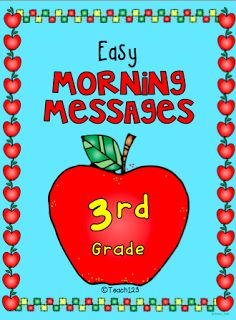3rd Grade Morning Message - aligned with Common Core and is differentiated.  Paid