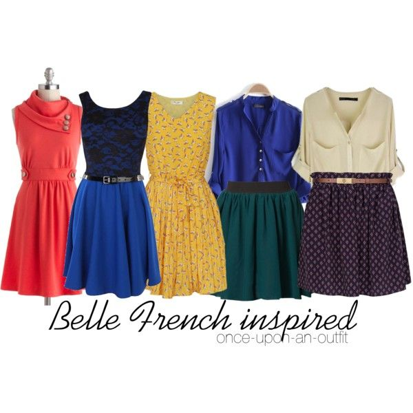 Belle french inspired once upon a time