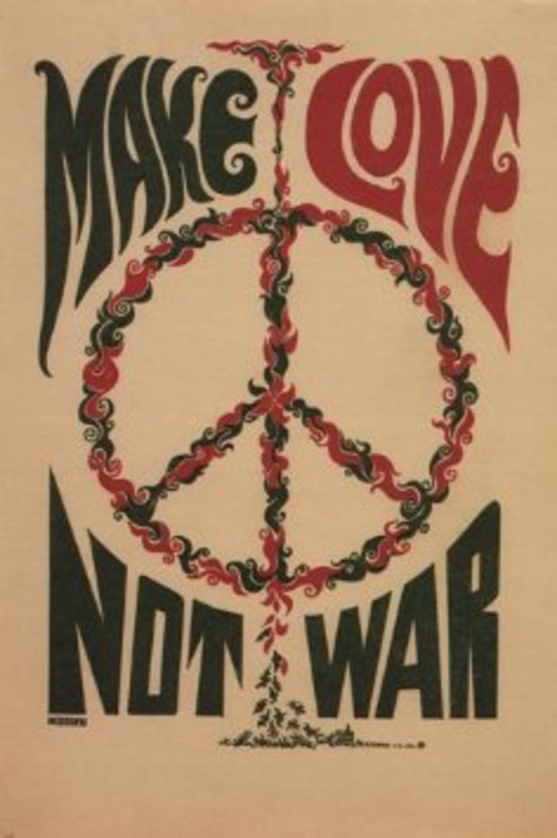 MAKE LOVE NOT WAR anti-war poster USA 1967 24X36 CLASSIC collectors ART