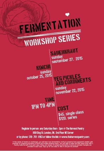 fermentation, cooking class instruction, preserving