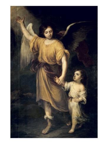 El angel guardian por Bartolome Esteban Murillo