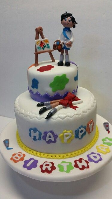 Painter Cake Painter Cake Painter Cake Artist Cake Cake