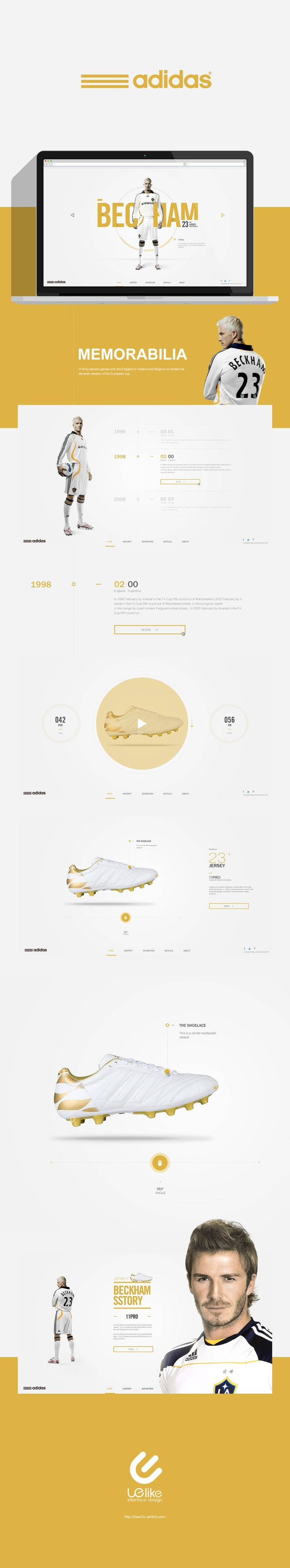nice way on presenting the 'history' range of a product used by famous people using interactive timeline. This could be good idea for product testimony as well. #webdesign #layout #inspiration