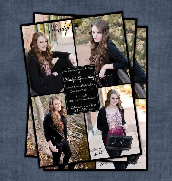 Invite guests to that special moment of your child's life with this graduation announcement.