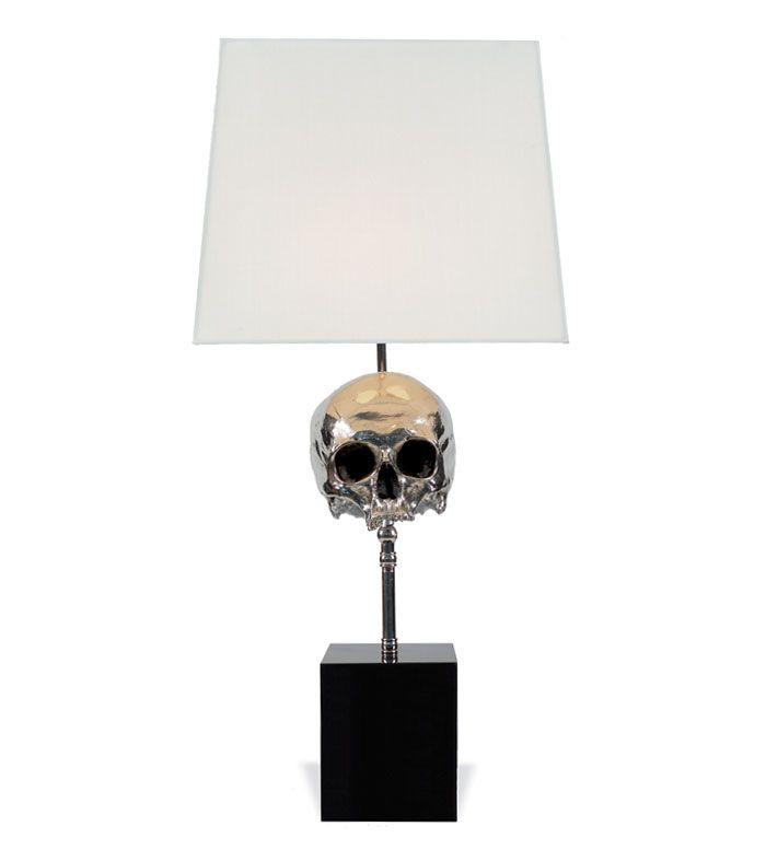 Blackman Cruz skull lamp