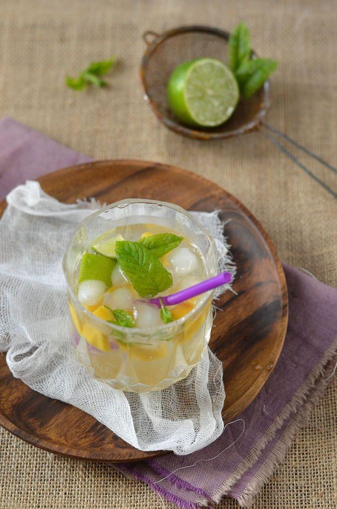 Mojito à la mangue sans alcool {ou avec...} -Tangerine Zest