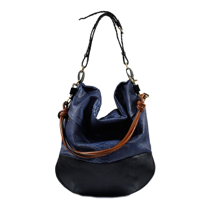 BOLDO Messenger in Navy Python. Crafted in the finest snakeskin, this luxurious beauty blends bold front-on shape with sleek side profile, perfect for those who want to make an impression but don't want to be weighed down. Super practical like all ATA receptacles, it's a bag for those who like to luxuriate: a lightweight treasure for those determined to look good. AU$625