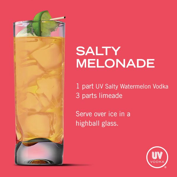 UV Vodka Recipe: Salty Melonade