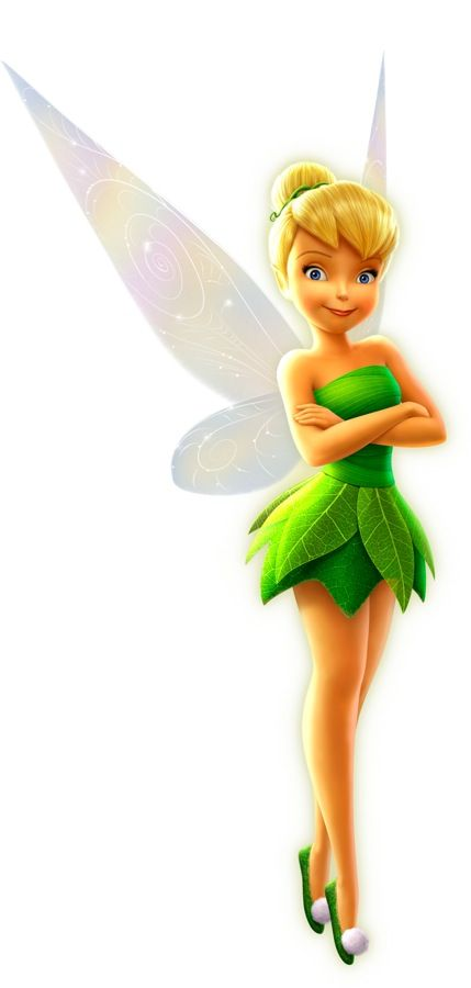 Tinker Bell (AKA Tink) is described as a common fairy who is small, slender, hand-sized, and fair-skinned. She is feisty and hot-tempered (with her body turning fiery red when angered), but also quite cute and beautiful. She first appears as a Walt Disney Character in Disney's 1953 film Peter Pan, and later on in her own feature film Tinker Bell, a computer animated film based on the Disney Fairies franchise. The film revolves around Tinker Bell, a fairy character created by J. M. Barrie