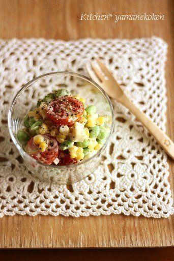 枝豆とコーンのサラダ by yukariさん | レシピブログ - 料理ブログの ...