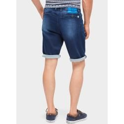 Tom Tailor Herren Josh Regular Slim Bermuda Shorts, braun, unifarben mit Print, Gr.38 Tom TailorTom