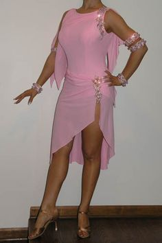 Delicate Pink Latin Costume for Sale, Dance Costumes For Sale