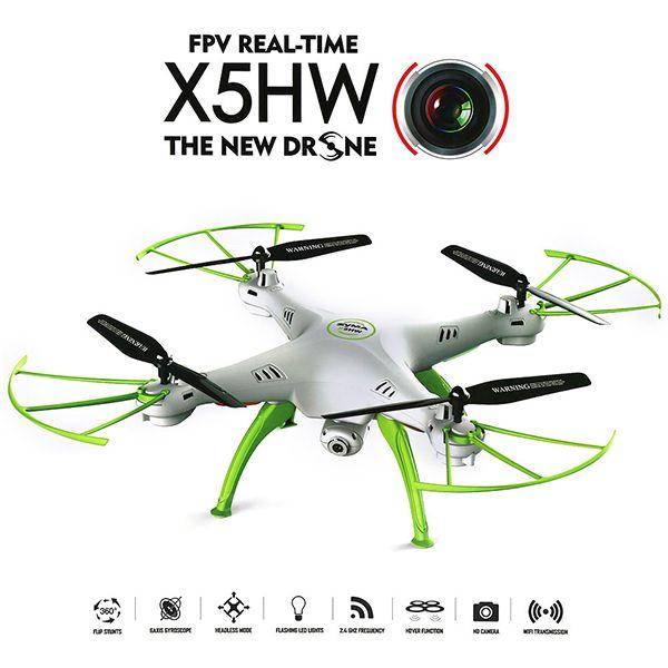 SYMA X5HW drón, mely képes az intelligens repülésre.  http://kisautok.hu/akciok/syma-x5hw-mobil-%C3%A9l%C5%91k%C3%A9pes-dr%C3%B3n-quadcopter-lebeg%C3%A9si-funkci%C3%B3val-reszletek