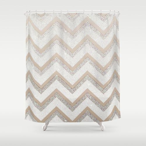 NUDE CHEVRON Shower Curtain by Monika Strigel | Society6 #nude #chevron #silver #white #beige #sparkling #shower #curtain #chevron #zigzag #glitter #photography #elegant #new #ombre #fading #shower #curtain #bathroom #girlsroom #apartment #home new