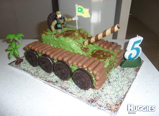 My son loves all things Military,all he wanted for his Birthday was a Army Tank Cake,which he loved!