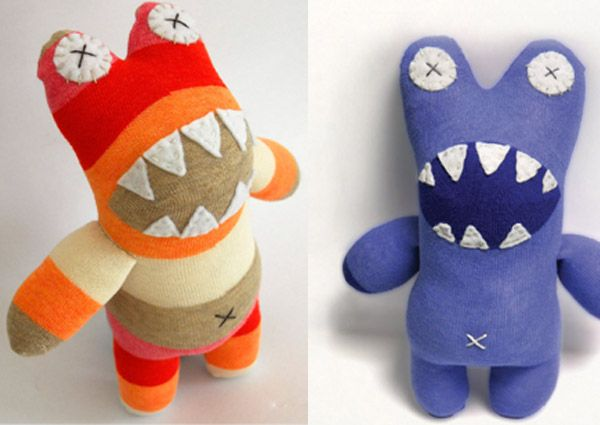 how to make a sock monster | Little Monsters How to make a sock toy with Craft Schmaft
