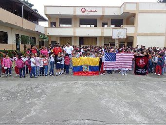 American Tribute Flag at Patricia Pilar, Ecuador.