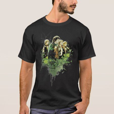 FRODO™ with Hobbits Vector Collage T-Shirt - click/tap to personalize and buy