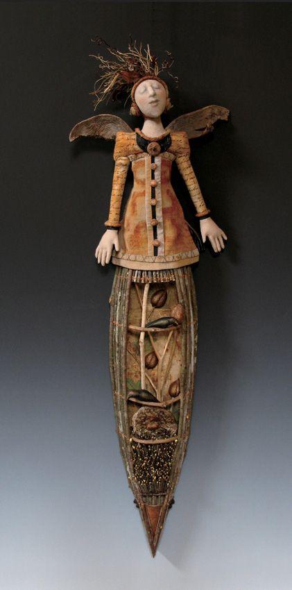 AKIRA & LARRY BLOUNT 1989: Fabric, mixed media. Bybee, TN. USA