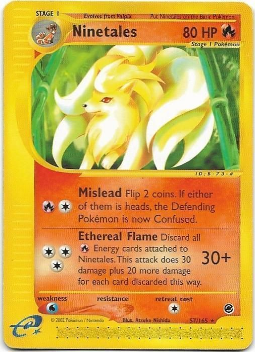 POKEMON NINETALES 57/165 EXPEDITION BASE SET RARA THE REAL_DEAL SHOP